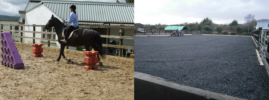 equine rubber equestrian surface